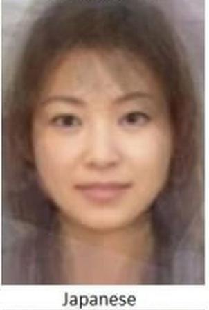 日本の平均女性の顔
