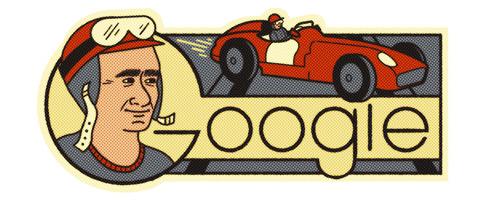 Google ファン マヌエル ファンジオ 生誕 105周年